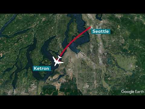Seattle: Angestellter stiehlt Flugzeug und stürzt ab
