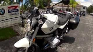 8. 2010 BMW R1200R White at Euro Cycles of Tampa Bay