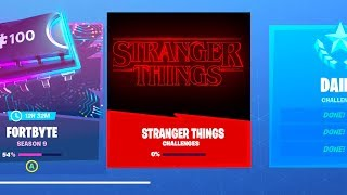 The Fortnite STRANGER THINGS EVENT FREE REWARDS..
