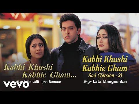Kabhi Khushi Kabhie Gham (Sad Version,2) Best Title Track - Shahrukh Khan|Lata Mangeshkar