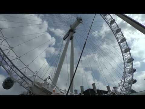 Das London Eye: Derzeit hohe Sicherheitsmassnahmen!