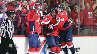 Alex Ovechkin toe drags to set up Tom Wilson alone in front by NHL