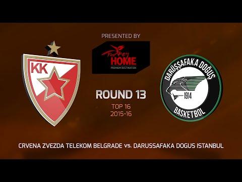 Highlights: Top 16, Round 13, Crvena Zvezda 61- 80 Darussafaka Dogus Istanbul