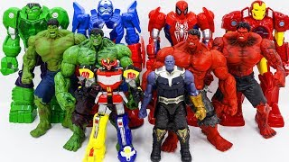 Video Marvel Super Hero HULK, RED HULK vs HULK Army Of THANOS~ GO GO!!! ZORD POWER RANGERS Show Up Rescue MP3, 3GP, MP4, WEBM, AVI, FLV Desember 2018