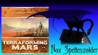 """Uitleg & Review van het spel """"Terraforming Mars"""", uitgegeven door Stronghold Games, door Nox' Spellenzolder. Vragen..."""