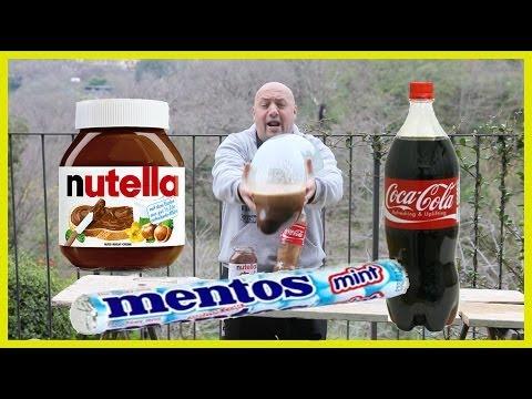 esperimento folle ( cocacola+mentos+nutella)