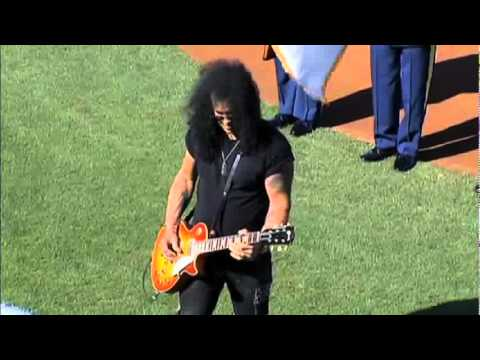 Slash plays national Anthem