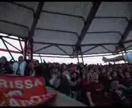 olympiakos - AEL at Karaiskaki (видео)