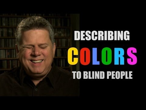 Image of Tommy Edison Describing Colors To Blind People