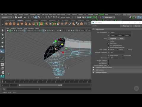 Modifying Maya Geometry with Multi cut