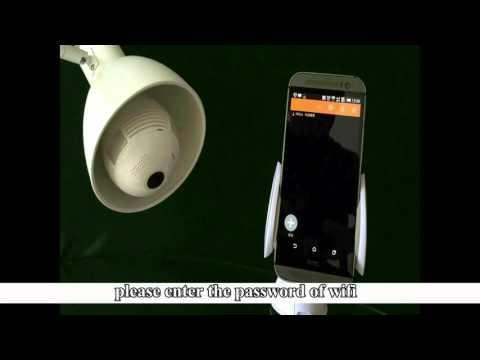 960P 360 Degree  Panoramic Wifi  P2P Hidden Network IP Camera LED Bulb Light