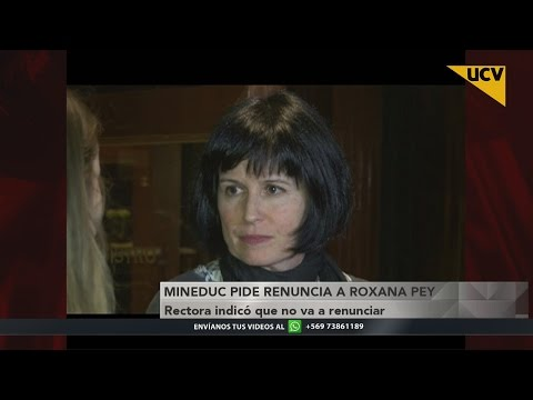 video Rectora Roxana Pey dice que no renunciará a su cargo