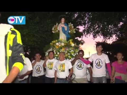 Celebran novenario a la Purísima en el Barrio Monseñor Lezcano con solemne procesión
