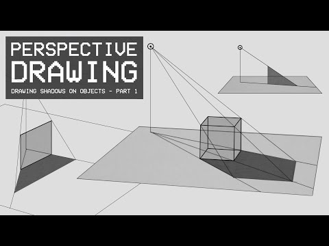 Perspective Drawing 22 - Drawing Shadows on Objects