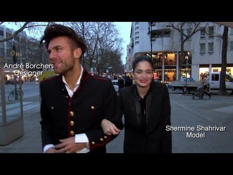 Fashion Week exklusiv: André Borchers und Shermine Shahrivar beim Star-Friseur Shan