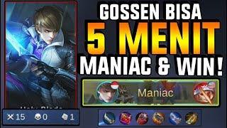 Download Video GOSSEN BISA 5 MENIT MANIAC DAN MENANG! IMBA PARAH! - Mobile Legend MP3 3GP MP4
