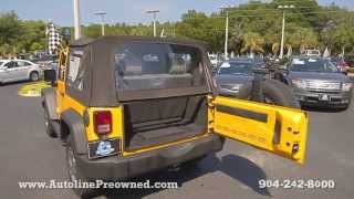 Autoline Preowned 2009 Jeep Wrangler X For Sale Used Walk Around Review Test Drive Jacksonville