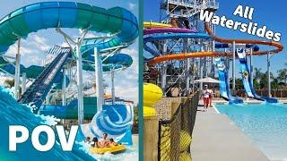 Buena Park (CA) United States  city photo : Knott's Soak City Waterpark All Slides (HD POV) Knott's Berry Farm, Buena Park, CA