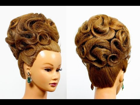 Hairstyles for medium long hair. Updo hairstyles. Bridal wedding hairstyles