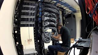 WIRING UP NEW SERVER ROOM