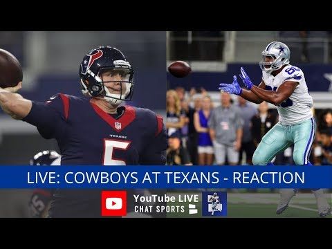 Cowboys vs. Texans Live Streaming Reaction & Watch Party