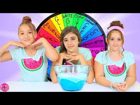 MYSTERY WHEEL OF SLIME CHALLENGE PART 2!!  SLIME SMOOTHIE EDITION!!
