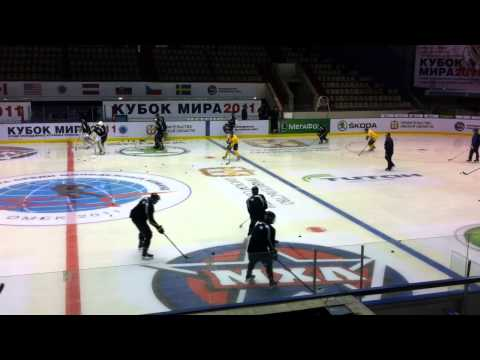 Fort McMurray Oil Barons first practice in Omsk Aug 29 2011