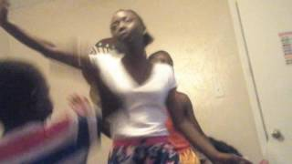 Two teens dancing . ....they killing it must watch.