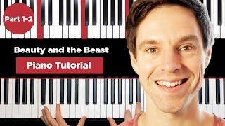 Video Beauty and the beast - Piano Tutorial - Part 1-2 - How to play piano MP3, 3GP, MP4, WEBM, AVI, FLV Juni 2018
