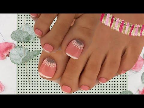 Decoracion de uñas - Decoración de uñas de pies para el 14 de febrero
