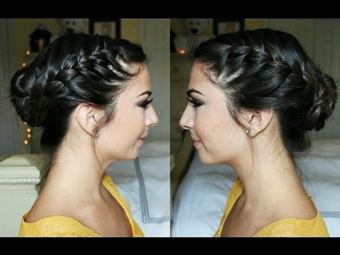 french braid - Thank you for taking the time to watch my video! Now go get your braid on :) -Nails inspired by NikkieTutorials tutorial! Check her out :) http://www.youtube...