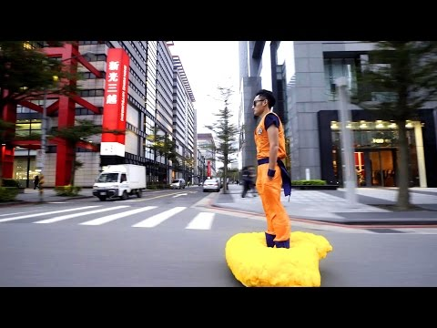 This guy turned a hoverboard into a Dragon Ball flying cloud