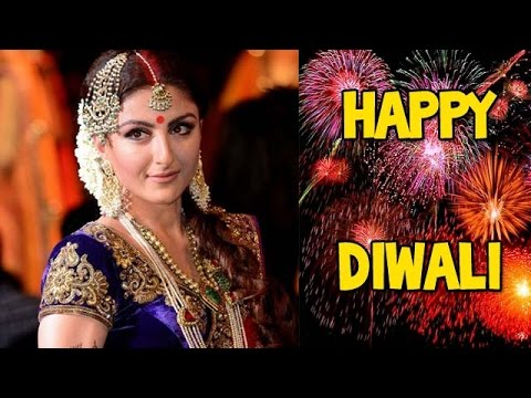 Soha Ali Khan celebrates Diwali! - EXCLUSIVE 23 October 2014 10 PM