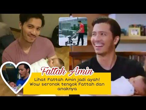 Seronok tengok Fattah jadi ayahh, dukung bbaby! Good daddyy