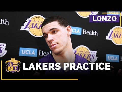 Video: Lonzo Ball Returns To Full Lakers Practice, Still Feels 'Some Pain' From Injury