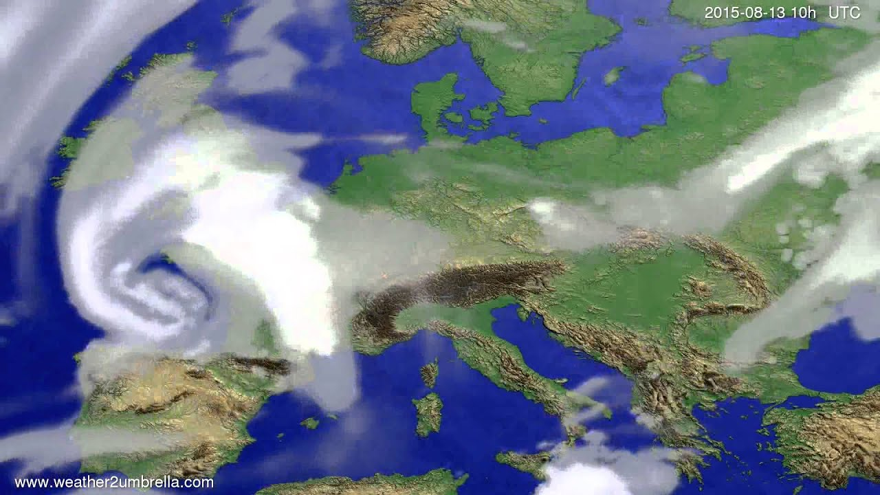 Cloud forecast Europe 2015-08-10