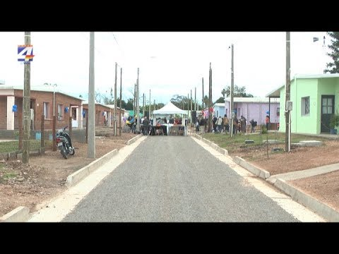 Inauguraron 40 viviendas construidas por el Programa de Autoconstrucción