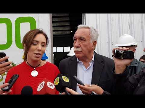 Vidal recorrió obras en Coronel Suárez y se refirió al conflicto docente