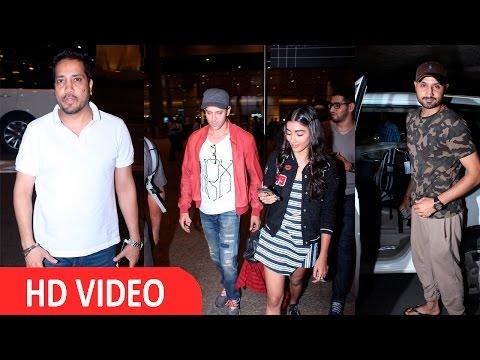 Hrithik Roshan,Harbhajan Singh, Pooja Hegde & Mika Singh Spotted At Airport