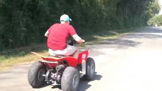 8. Yamaha Raptor and Honda TRX 90 street race