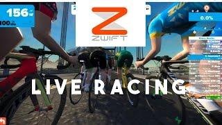 The Vegan Cyclist hangs on in a Zwift Race.