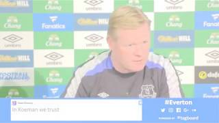 Hear from the Everton boss ahead of Sunday's final Premier League game of the season at the Emirates Stadium.