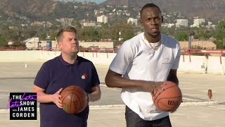 Video James Corden Challenges Usain Bolt to ALL the Games MP3, 3GP, MP4, WEBM, AVI, FLV Februari 2018