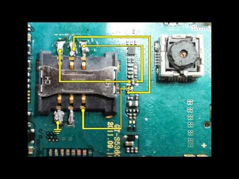 Samsung GALAXY gt-s5360 Repair place the sim