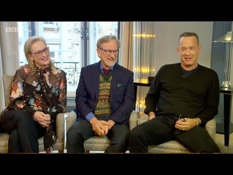 Meryl Streep, Tom Hanks, Steven Spielberg. The Andrew Marr Show. The Post, Oprah... BBC1. 14.1.2018