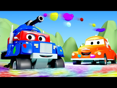 Carl Si Tank Baja -Carl Si Truk Super 🚚⍟ truk kartun untuk anak-anak l Indonesian Cartoons for Kids