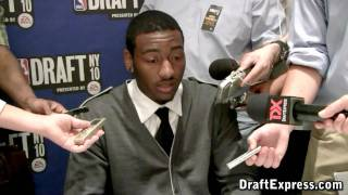 John Wall - 2010 NBA Draft Media Day - DraftExpress