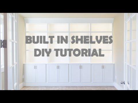 DIY Built In Shelves Tutorial   Base   Cabinets   Part I