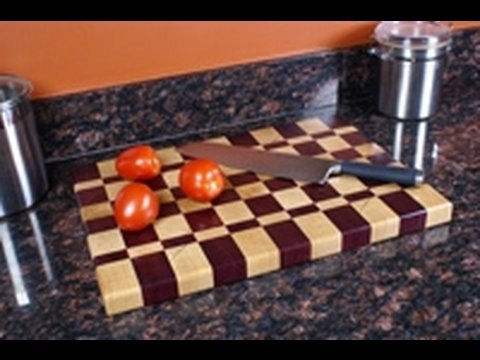 woodworking - http://thewoodwhisperer.com One of my favorite woodworking projects is a butcher block end-grain cutting board. In Part 1 of this two part series, we cover t...