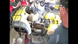 9. How to Rebuild Top End on Honda 350 ATV Part 1